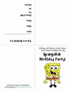 spongebob invitations template best template collection With spongebob party invitation templates