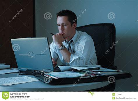 Working Late Stock Photo Image Of Twilight Computer