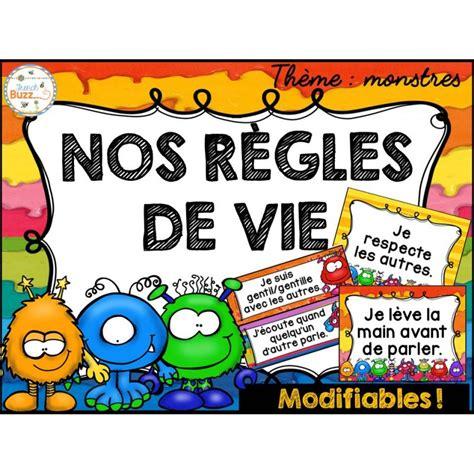 Tableau Regle De Vie by R 232 Gles De Vie Th 232 Me Monstres