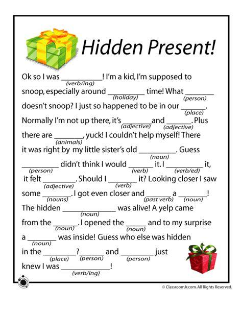 christmas mad libs hidden present woo jr kids