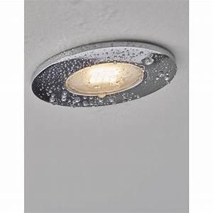 Kit 1 spot fixe à encastrer LED Integra 5 5W aluminium