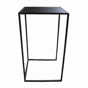Table Haute Noire : table mange debout quadra noire 0 8m ml locations ~ Teatrodelosmanantiales.com Idées de Décoration