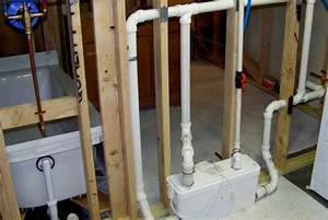 Basement sump pump design for How to install bathroom in basement without rough in