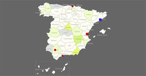 interactive map  spain clickable provincescities