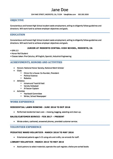 High School Resume  Resumes Perfect For High School Students. Sample Resume For Stay At Home Mom Returning To Work. Good Resume Phrases. How To Build A Professional Resume For Free. Rn Resumes Examples. Resume Sample For Job. Scholarship Resume Builder. Music Resume Sample. Resume Creator App