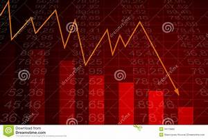 Arrow Graph Going Down On A Red Background Stock Photos ...