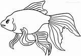 Goldfish Coloring Fish Template Drawings Printable Cool2bkids Cracker Getcolorings Bowl sketch template