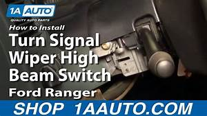 How To Install Replace Turn Signal Wiper High Beam Switch