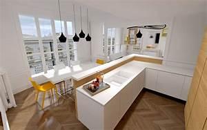 Bar D Appartement : appartement haussmanien 16eme bar agence avous homes have own soul pinterest kitchen home ~ Teatrodelosmanantiales.com Idées de Décoration