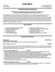 customer service professional resume best customer service resume templates sles on resume templates customer