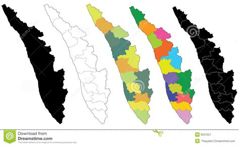 map  kerala royalty  stock photography image