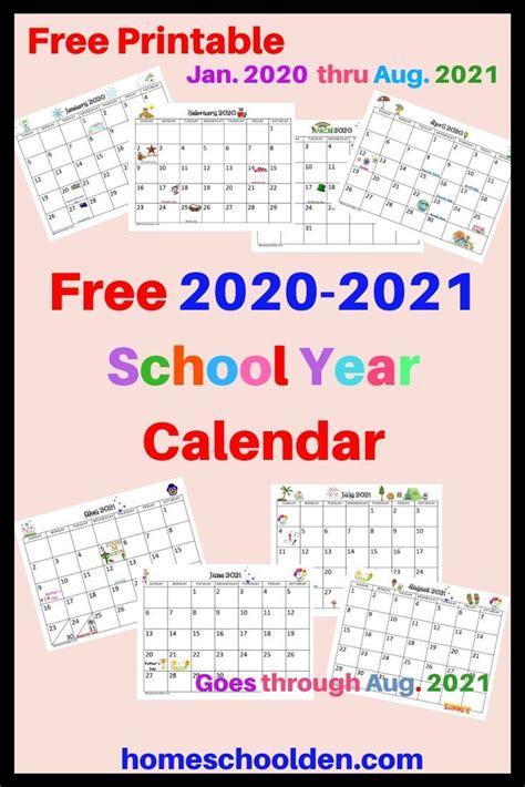 calendar printable school calendar