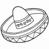 Sombrero Coloring Sweet Template Surfnetkids Pages sketch template
