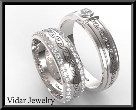 His And Her Diamond Wedding Bands