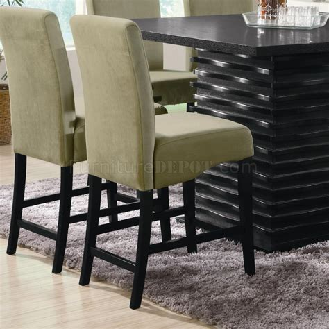 stanton counter height dining table in black coaster w