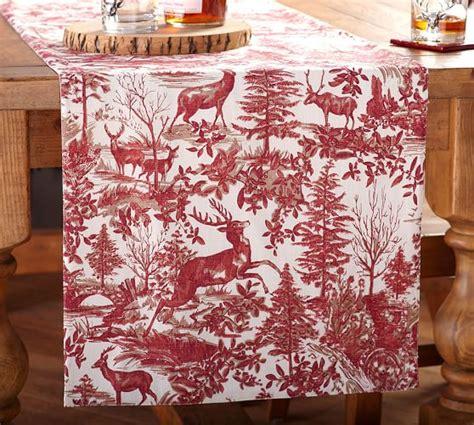 table runner pottery barn alpine toile table runner pottery barn