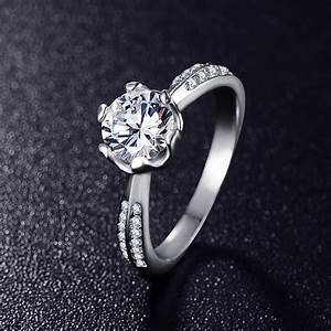 Aliexpresscom buy new hot sale luxury band ring for Women s platinum wedding rings