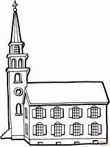 Church Coloring Pages Building Buildings Tower Printable Colouring Little Clipart Colour Template Print Cliparts Main Tall 3d Library Coloringpages101 Paper sketch template
