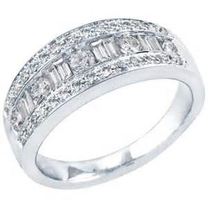 wedding rings real diamonds wedding band 3 4ct tw baguette ring eawedding