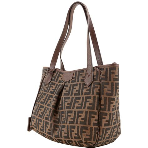 Authentic Fendi Jacquard Zucca Logo Shoulder Bag 8BH268 ...