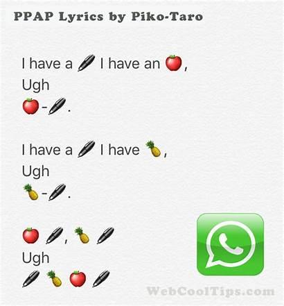Lyrics Ppap Song Japan Emoji Pen Whatsapp