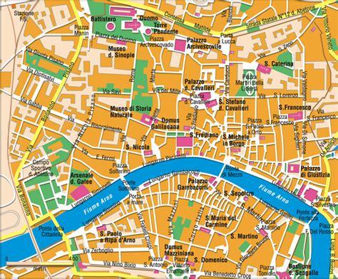 Carte Italie Ville Pise by Pise