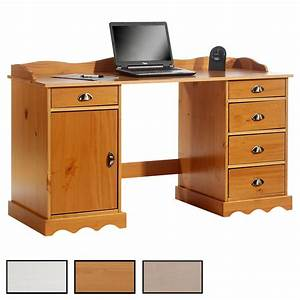 Bureau En Pin : bureau en pin massif sandrine avec corniche mobil meubles ~ Teatrodelosmanantiales.com Idées de Décoration