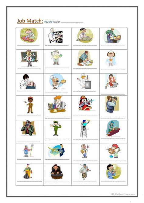 job match worksheets worksheets