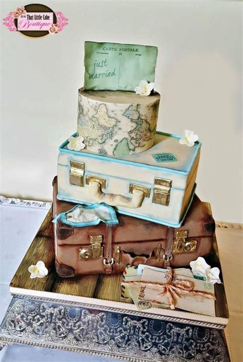ideas  suitcase cake  pinterest travel