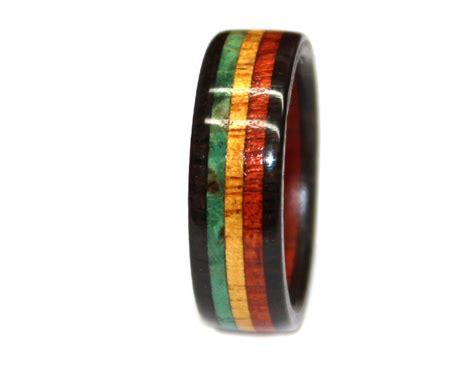 rasta wedding rings rasta flag wooden ring wooden rings