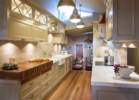 galley kitchen lighting burleigh heads hton style kitchen traditional 1163
