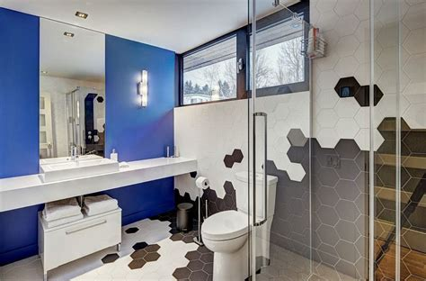 pictures of black and white bathrooms ideas 25 creative geometric tile ideas that bring excitement to