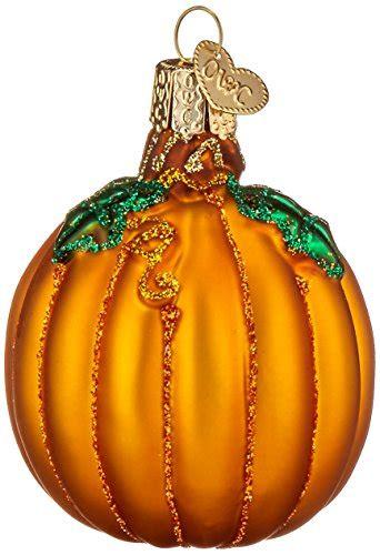 world christmas pumpkin glass blown ornament