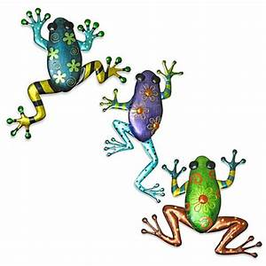 Indoor/Outdoor Metallic Frog Metal Wall Art - Bed Bath