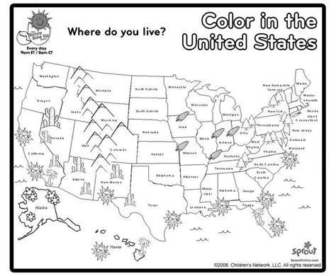 us map coloring page social studies map skills