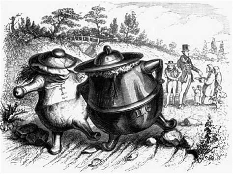 le pot de terre et le pot de fer ruedesfables net
