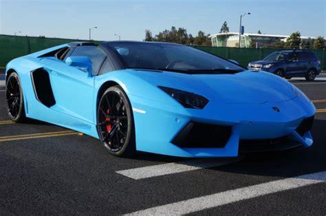 lamborghini aventador roadster  rare blu cepheus paint  nero ade interior