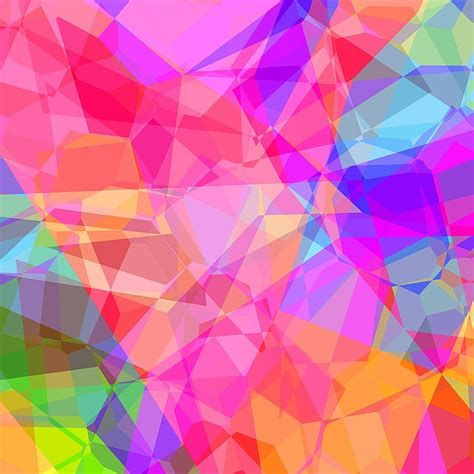 free illustration colorful abstract polygon free