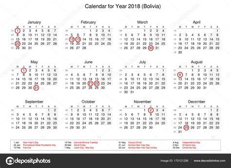 calendario festivos bolivia calendario del ano