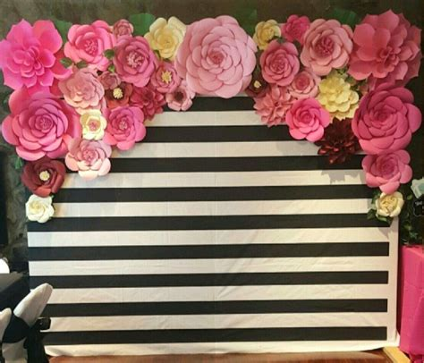 Kate Backdrop by Diy Kate Spade Photo Booth Backdrop Made With Paper