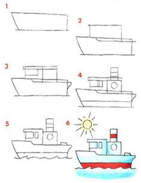 How To Draw A Boat Art Hub by How To Draw A Rocket Young Artists Art For Kids Hub