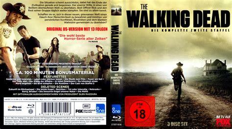 the walking dead staffel 2 dvd cover label 2011