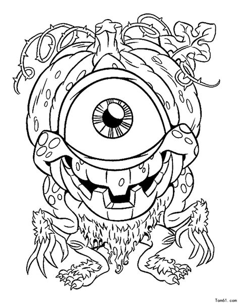 Kleurplaat Enge Monsters by 怪物图片 简笔画图片 少儿图库 中国儿童资源网