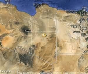 Libyan Desert On Map
