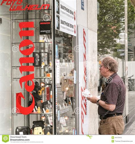 canon shopping the canon shop editorial image cartoondealer
