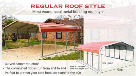 12' X 21' Regular Roof Metal Garagelowest Buy Online