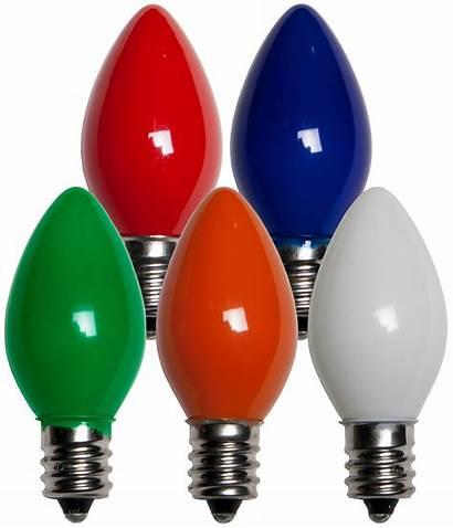 C7 Opaque Bulbs Bulb Christmas Lights Multicolor