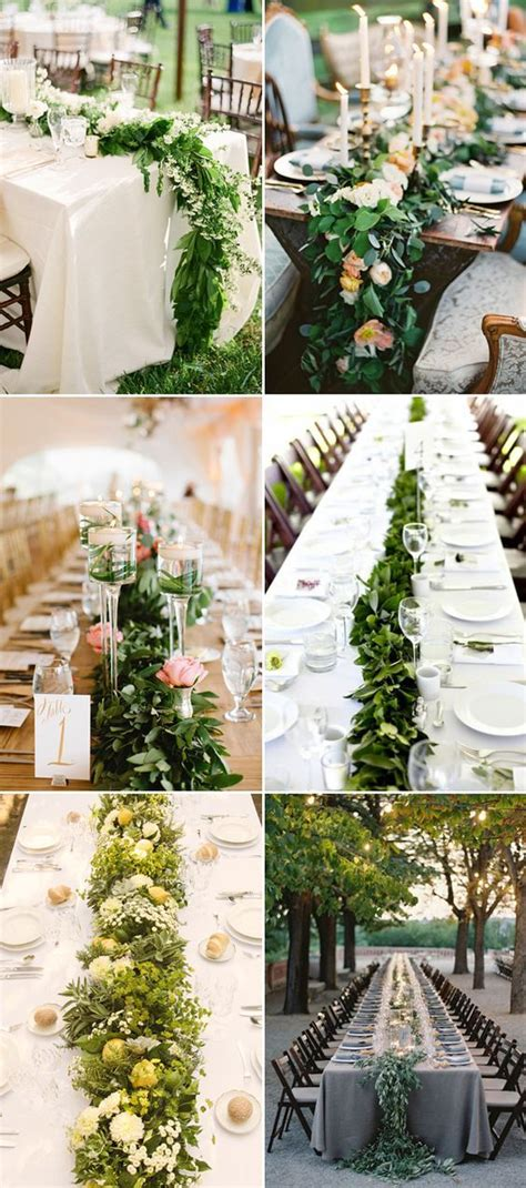 25 Statement making Fresh Flower Table Runners Wedding