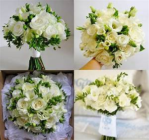 BonnieProjects: Elegant White and Green Wedding Bouquets ...