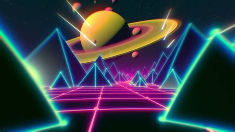 80s Retro Futurism Background (loop) Stock Footage Video